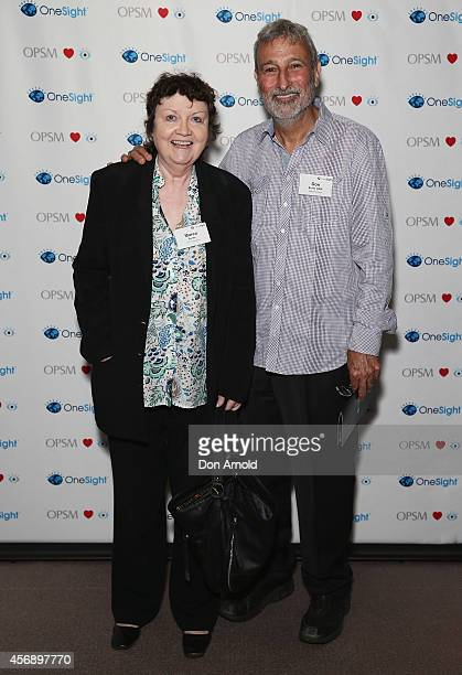 Marea Burke and Don Burke pose at the launch of the OneSight inspired Ray-Ban Indigenous Special Edition Wayfarer at Australian Museum on October 9,...