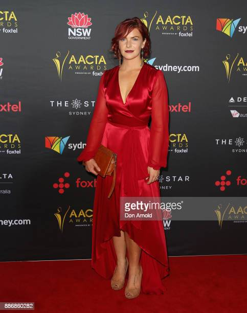 Maree Lowes poses during the 7th AACTA Awards at The Star on December 6 2017 in Sydney Australia