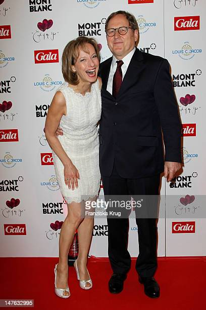 Mareike Carriere and J. Gerd Klement attend honouring ceremony of 'Couple of the year' at Hotel Louis C. Jacob on April 11, 2011 in Hamburg, Germany.