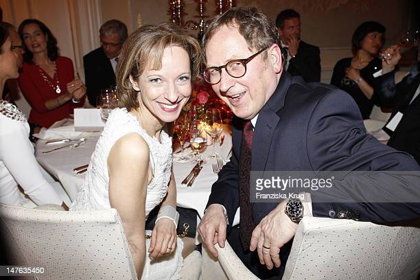 Mareike Carriere and JGerd Klementattend honouring ceremony of 'Couple of the year' at Hotel Louis C Jacob on April 11 2011 in Hamburg Germany