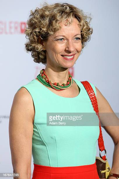 Mareike Carriere arrives for a brunch celebrating 40 years of the Ziegler Film production company at Mercedes Welt on April 27 2013 in Berlin Germany...