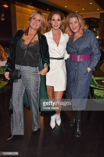 Mareile Hoeppner Alexa Maria Surholt and Kim Fisher attend the charity event PLACE TO B Playing for Charity at Restaurant GRACE on October 4 2018 in...