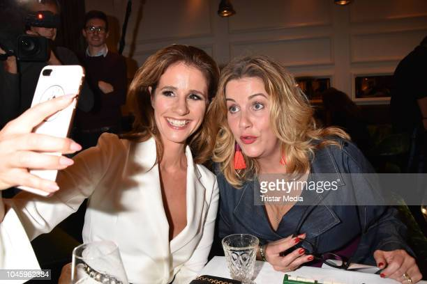 Mareile Hoeppner and Alexa Maria Surholt attend the charity event PLACE TO B Playing for Charity at Restaurant GRACE on October 4 2018 in Berlin...