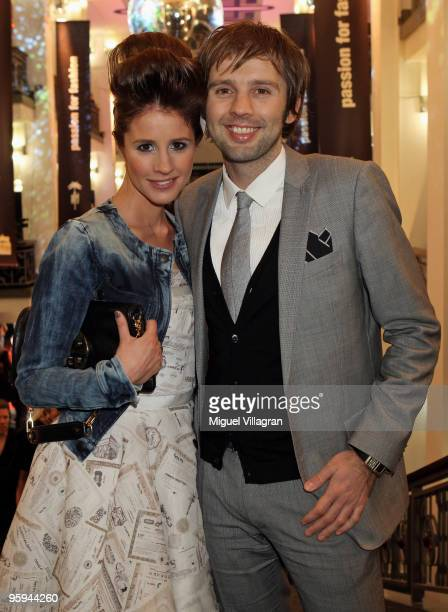 Mareile Hoeppner and her husband Arne Schoenfeld attend the Michalsky Style Night Fashion Show at Friedrichstadtpalast on January 22 2010 in Berlin...