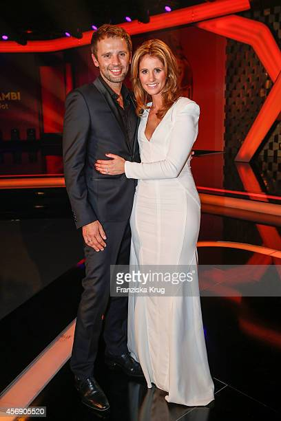 Mareile Hoeppner and her husband Arne Schoenfeld attend the Tribute To Bambi 2014 party on September 25 2014 in Berlin Germany