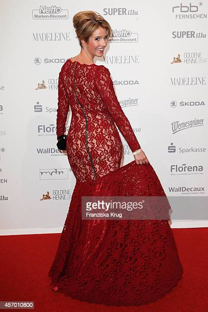 Mareile Hoeppner attends Madeleine at Goldene Henne 2014 on October 10 2014 in Leipzig Germany