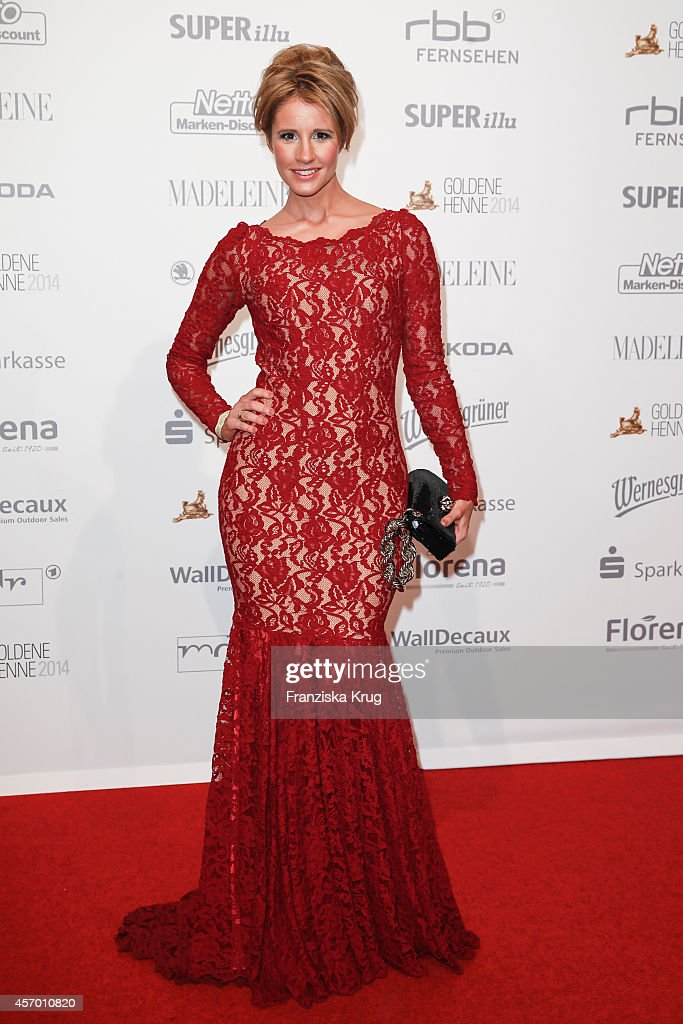 Mareile Hoeppner attends Madeleine at Goldene Henne 2014 on October 10, 2014 in Leipzig, Germany.