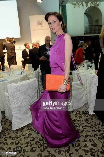 Mareile Hoeppner attends the Felix Burda Award Gala 2012 at Hotel Adlon on April 22 2012 in Berlin Germany