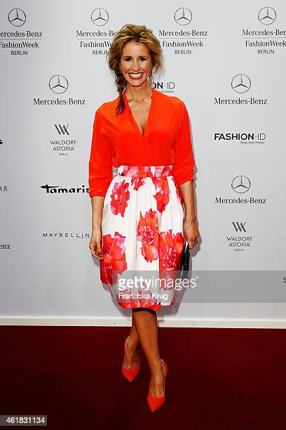 Mareile Hoeppner attends the Marc Cain show during the MercedesBenz Fashion Week Berlin Autumn/Winter 2015/16 at Brandenburg Gate on January 20 2015...