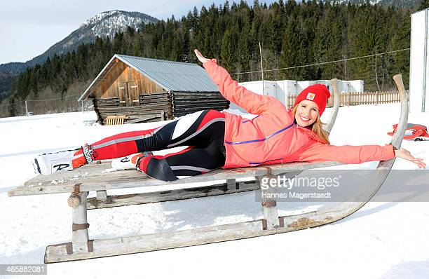 Mareile Hoeppner attends the photocall for the tv show Star Biathlon 2014 on January 30 2014 in GarmischPartenkirchen Germany