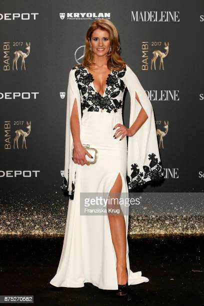 Mareile Hoeppner poses with an award at the Bambi Awards 2017 winners board at Stage Theater on November 16 2017 in Berlin Germany
