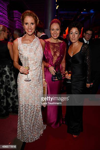 Mareile Hoeppner Ruth Moschner and Dunja Hayali attend the Deutscher Fernsehpreis 2014 after show party at Coloneum on October 2 2014 in Cologne...