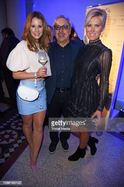 Mareile Hoeppner Wolfgang Stumph and Kamilla Senjo during the Blue Hour Party hosted by ARD during the 69th Berlinale International Film Festival at...
