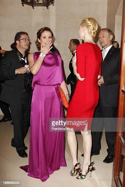 Mareile Höppner And Franziska Knuppe at the 10th Anniversary Of The Felix Burda Award at Hotel Adlon in Berlin