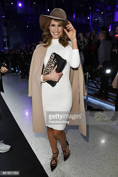 Mareile Höppner attends the Marc Cain fashion show A/W 2017 at Deutsche Telekom representation on January 17 2017 in Berlin Germany