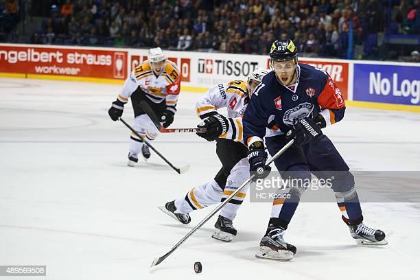Marek Bartanus shoots to score during the Champions Hockey League round of  thirtytwo game between HC 8c48aa1804c