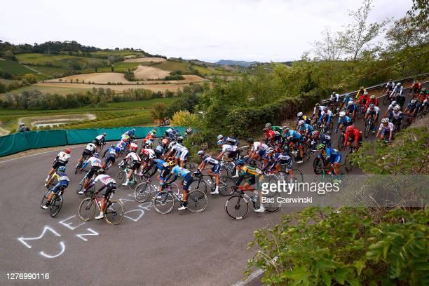 Marek Canecky of Slovakia / Daniel Felipe Martinez Poveda of Colombia / Kenny Elissonde of France / Mazzolano / Peloton / Landscape / during the 93rd...