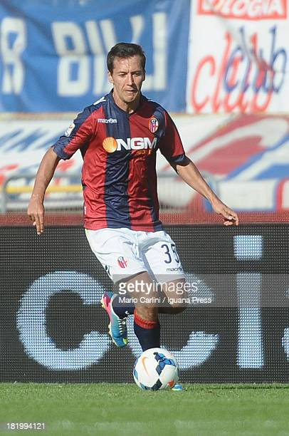 Marek Cech of Bologna FC in action during the Serie A match between Bologna FC and Torino FC at Stadio Renato Dall'Ara on September 22 2013 in...