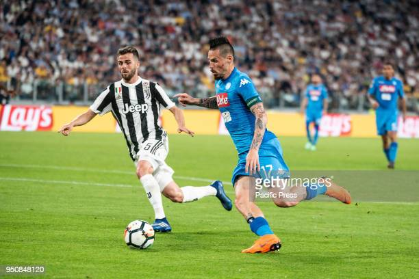 Marek Hamsik durig the Serie A match Juventus FC vs Napoli Napoli won 01 at Allianz Stadium in Turin Italy 22nd april 2018