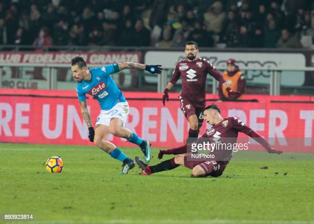 Marek Hamsik during Serie A match between Torino v Napoli in Turin on December 16 2017