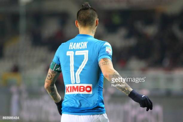 Marek Hamsik during the Serie A football match between Torino FC and SSC Napoli at Olympic Grande Torino Stadium on 16 December 2017 in Turin Italy...