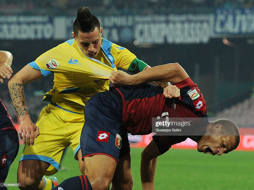 Marek Hamsik Of Napoli And Sebastian De Maio Of Genoa In Action News Photo Getty Images