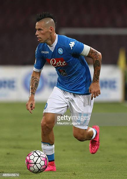 Marek Hamsik of Napoli during the Serie A match between SSC Napoli and UC Sampdoria at Stadio San Paolo on August 30 2015 in Naples Italy
