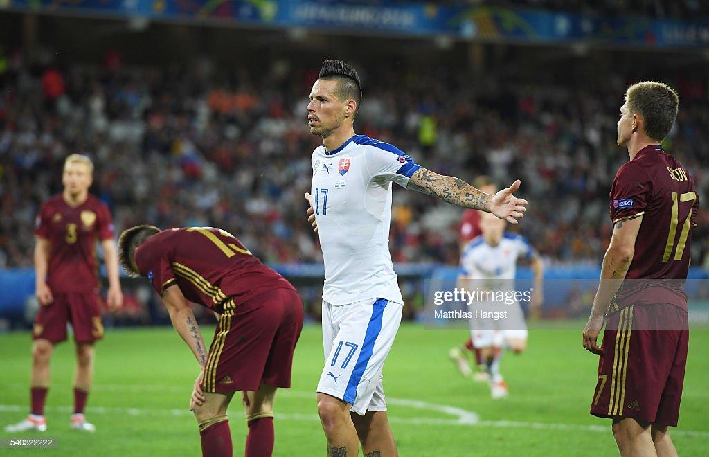Russia v Slovakia - Group B: UEFA Euro 2016 : Fotografia de notícias