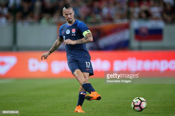 Marek Hamsik of Slovakia during the International Friendly match between Slovakia v Holland at the City Arena on May 31 2018 in Trnava Slovakia