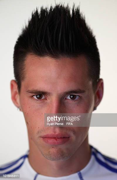 Marek Hamsik of Slovakia poses during the official FIFA World Cup 2010 portrait session on June 10 2010 in Pretoria South Africa