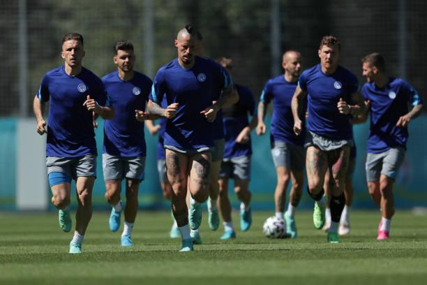 RUS: Slovakia Training Session and Press Conference - UEFA Euro 2020: Group E