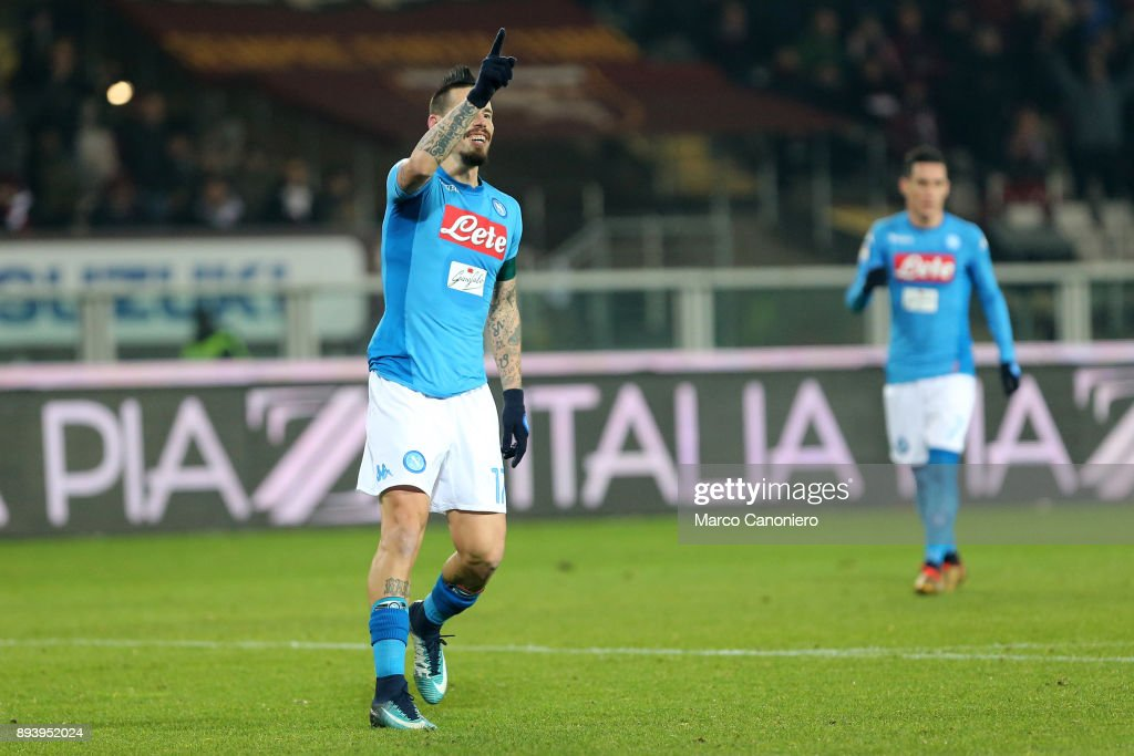 Marek Hamsik of Ssc Napoli celebrate after scoring 115th... : News Photo
