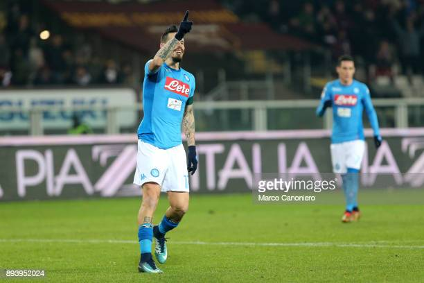 Marek Hamsik of Ssc Napoli celebrate after scoring 115th goal with Ssc Napoli reaching Diego Armando Maradona during the Serie A football match...