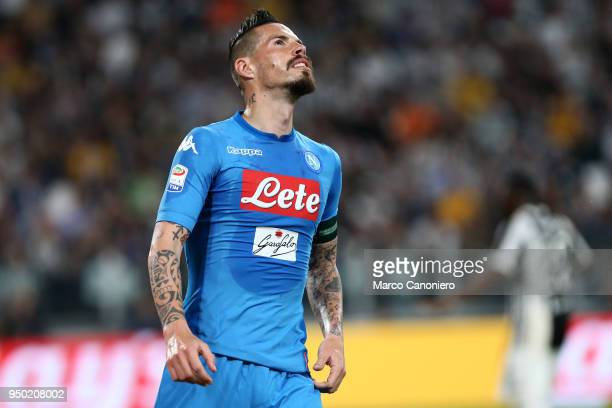 Marek Hamsik of Ssc Napoli during the Serie A football match between Juventus Fc and Ssc Napoli Ssc Napoli wins 10 over Juventus Fc