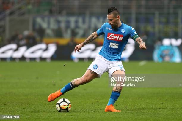 Marek Hamsik of Ssc Napoli in action during the Serie A football match between Fc Internazionale and Ssc Napoli The final score was 00