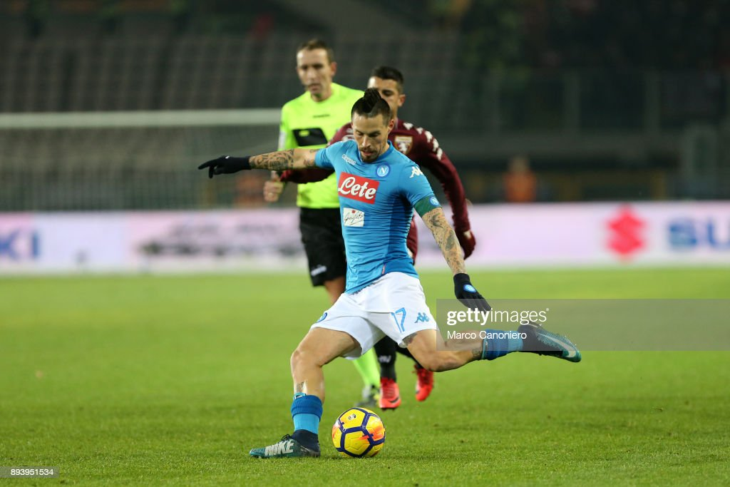 Marek Hamsik of Ssc Napoli in action   during the Serie A... : News Photo