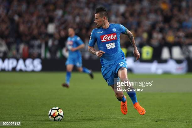 Marek Hamsik of Ssc Napoli in action during the Serie A football match between Juventus Fc and Ssc Napoli Ssc Napoli wins 10 over Juventus Fc