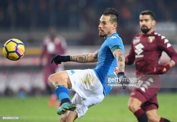 Marek Hamsik of SSC Napoli in action during the Serie A match between Torino FC and SSC Napoli at Stadio Olimpico di Torino on December 16 2017 in...