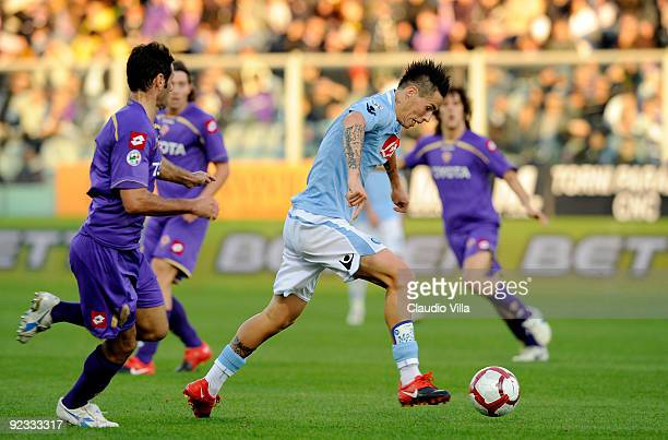 Marek Hamsik of SSC Napoli in action during the Serie A match between ACF Fiorentina and SSC Napoli at Stadio Artemio Franchi on October 25 2009 in...