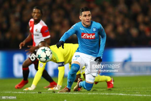 Marek Hamsik of SSC Napoli reacts during the UEFA Champions League group F match between Feyenoord and SSC Napoli at Feijenoord Stadion on December 6...