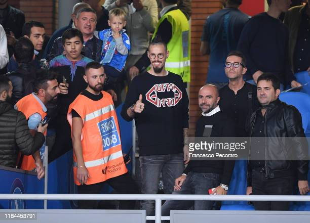 Marek Hamsik poses before the Serie A match between SSC Napoli and Atalanta BC at Stadio San Paolo on October 30 2019 in Naples Italy