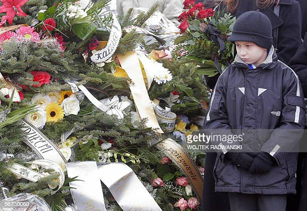 Marek Knosala attends a triple funeral of his younger brother Tomasz and parents Gabriela and Jan in Nowa Polska Wies, southern Poland, 02 February...