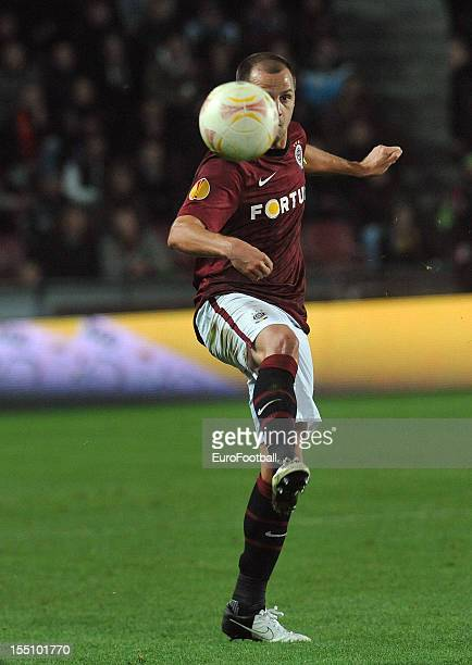 Marek Matejovsky of AC Sparta Praha in action during the UEFA Europa League group stage match between AC Sparta Praha and Hapoel Kiryat Shmona FC...