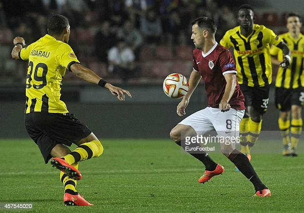 Marek Matejovsky of AC Sparta Praha in action during the UEFA Europa League Group I match between AC Sparta Praha and BSC Young Boys at the Stadion...