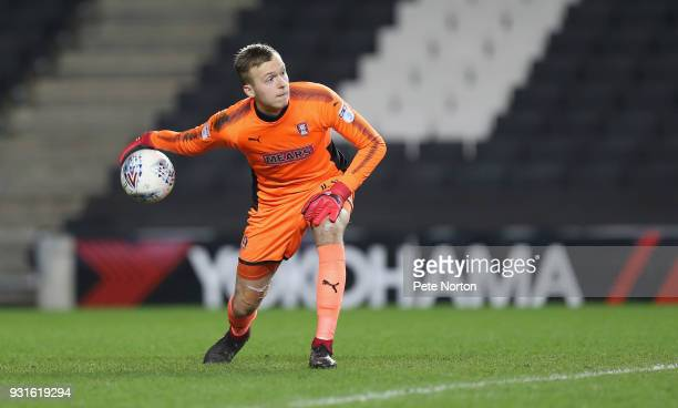 Marek Rodak of Rotherham United in action during the Sky Bet League One match between Milton Keynes Dons and Rotherham United at StadiumMK on March...