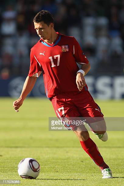 Marek Suchy of Czech Republic during the UEFA European Under21 Championship Group B match between Czech Republic and Spain at the Viborg Stadium on...