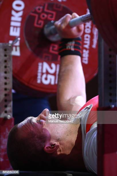Marek Trykacz of Poland competes during the Men's Up to 65Kg Group A Category as part of the World Para Powerlifting Championships Mexico 2017 at...