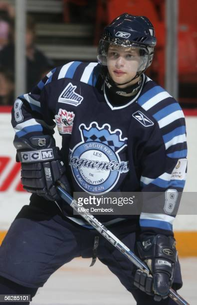 Marek Zagrapan of the Chicoutimi Sagueneens in action against the Halifax Mooseheads during the game at the Halifax Metro Centre on November 12 2005...