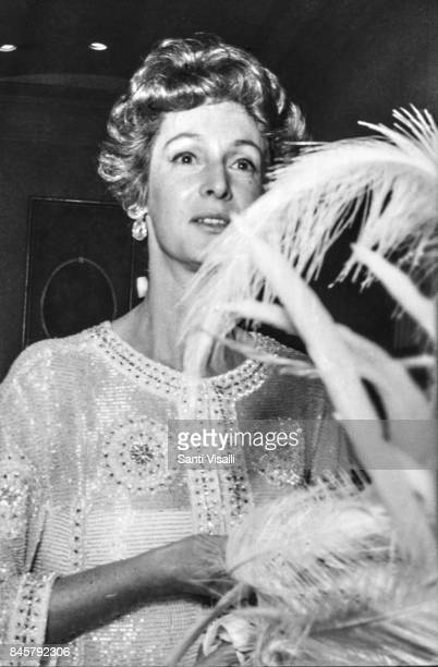 Marella Agnelli at Truman Capote BW Ball on November 28 1966 in New York New York