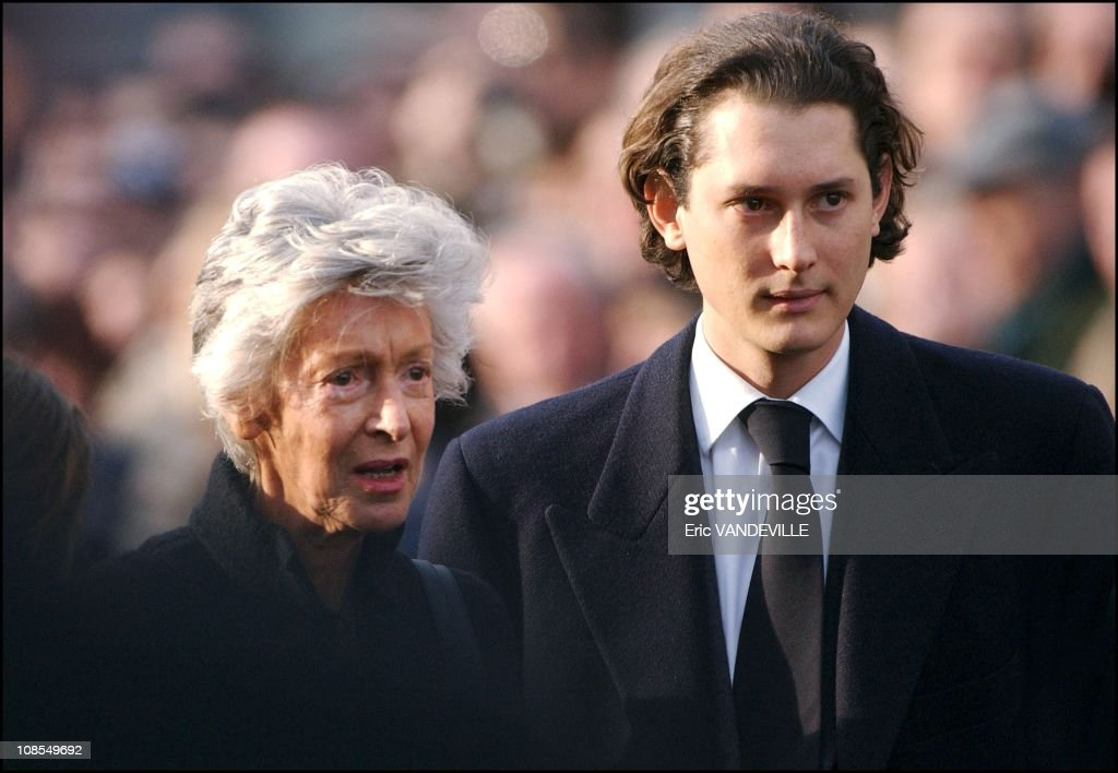 Marella Agnelli, Giovanni's widow and John Philipp Elkann ...